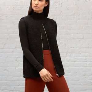 Wilfred Chatou Plush Black Cocoon Cozy Zip Vest XXS